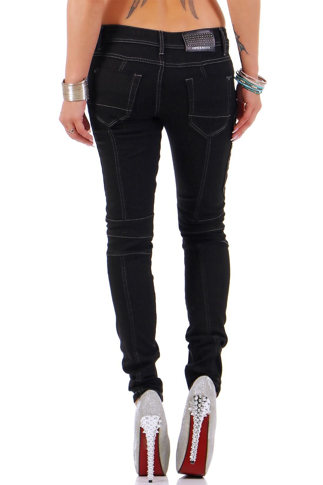 Verschiedene-Cipo-amp-Baxx-Damen-Jeans-Hosen-Slim-Fit-Regular-Fit-Streetwear Indexbild 58