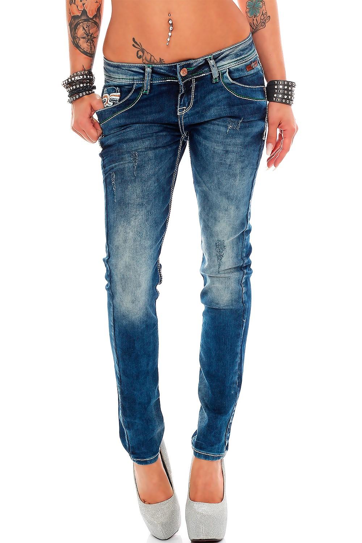 Verschiedene-Cipo-amp-Baxx-Damen-Jeans-Hosen-Slim-Fit-Regular-Fit-Streetwear Indexbild 8