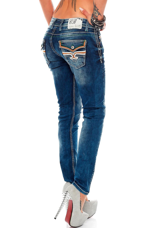 Verschiedene-Cipo-amp-Baxx-Damen-Jeans-Hosen-Slim-Fit-Regular-Fit-Streetwear Indexbild 9