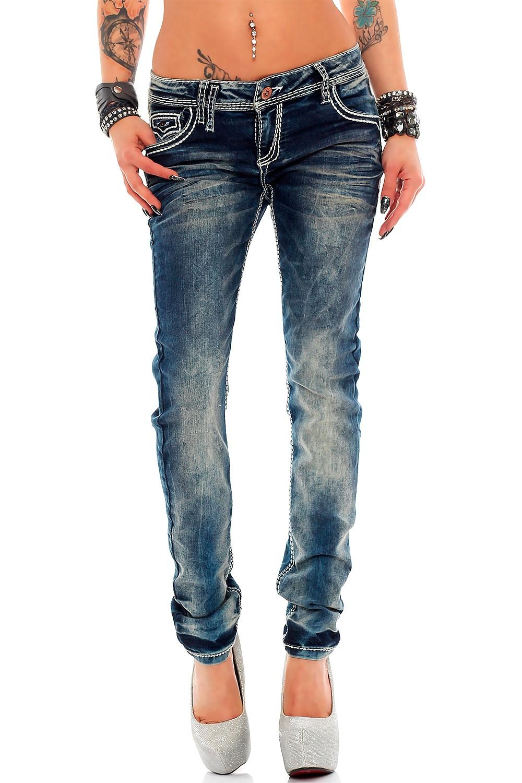 Verschiedene-Cipo-amp-Baxx-Damen-Jeans-Hosen-Slim-Fit-Regular-Fit-Streetwear Indexbild 12