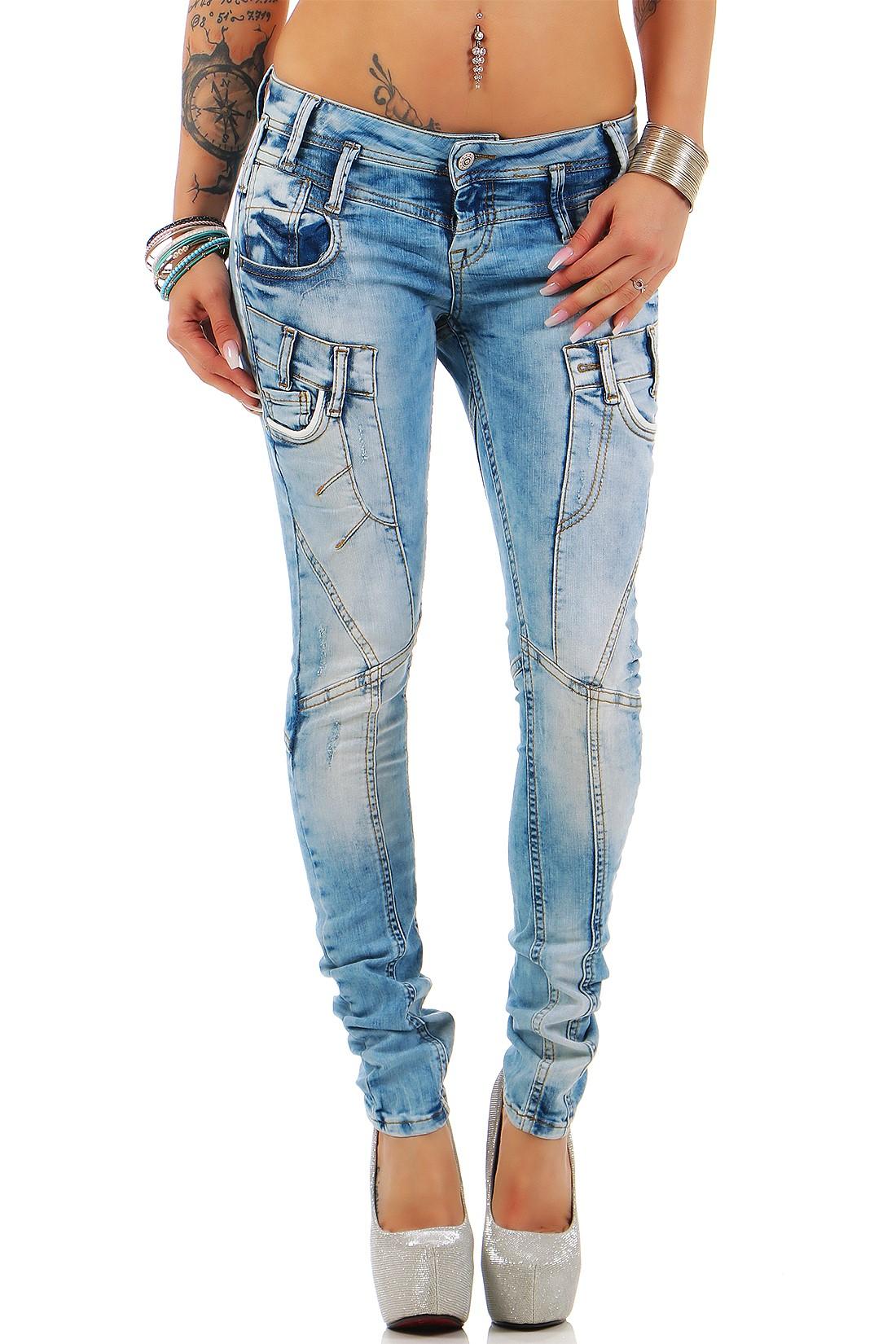 Verschiedene-Cipo-amp-Baxx-Damen-Jeans-Hosen-Slim-Fit-Regular-Fit-Streetwear Indexbild 51