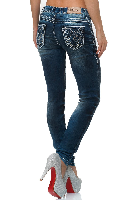 Verschiedene-Cipo-amp-Baxx-Damen-Jeans-Hosen-Slim-Fit-Regular-Fit-Streetwear Indexbild 68
