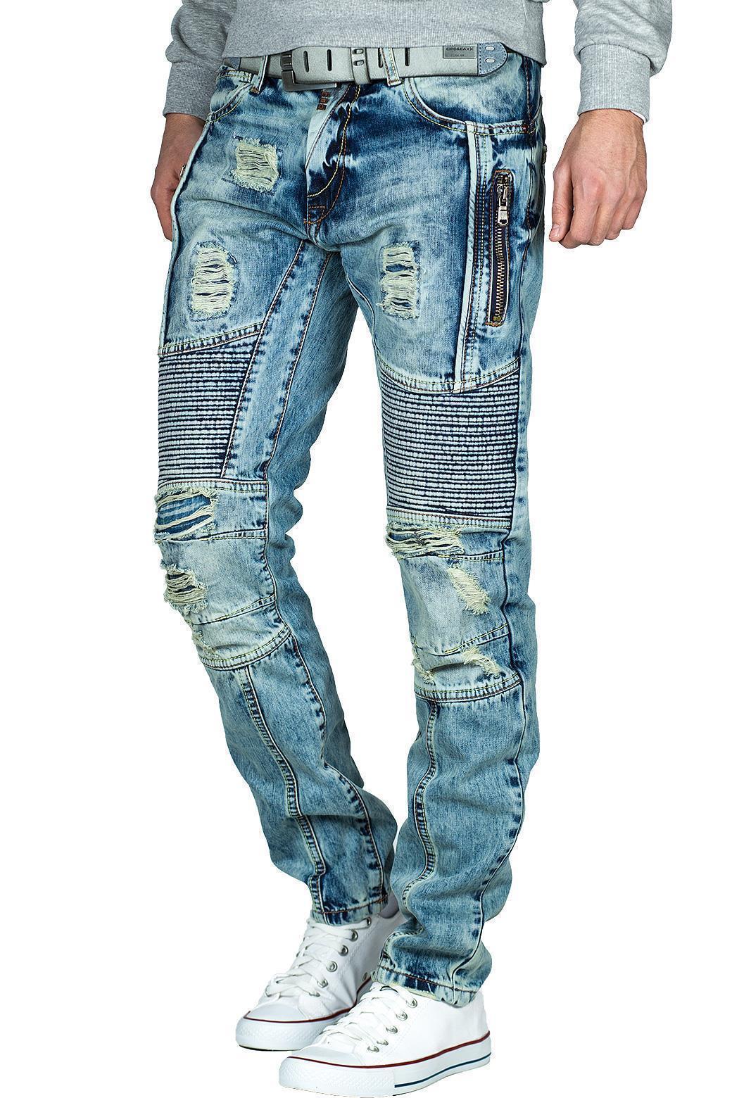 Cipo-amp-Baxx-Uomo-Jeans-Pantaloni-ricamate-Biker-Style-streetwear-nervature-pattern-Dope miniatura 41