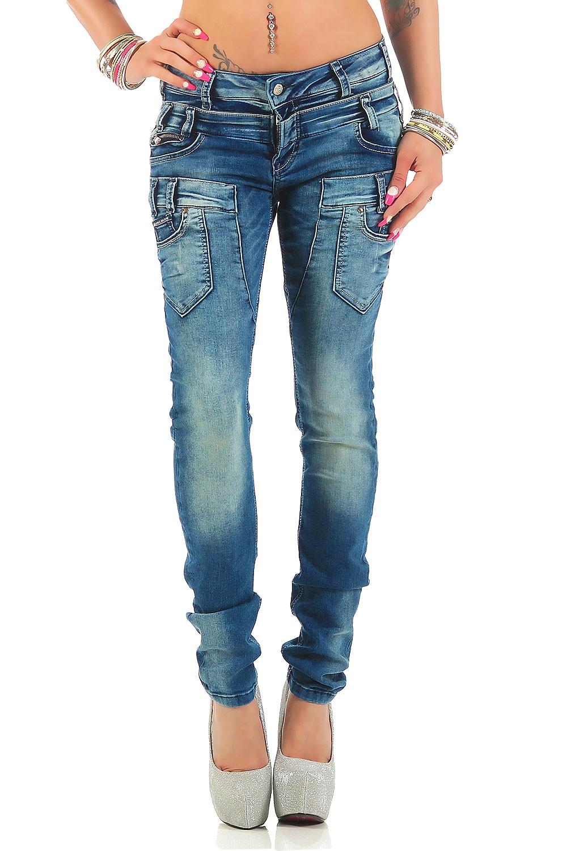 Verschiedene-Cipo-amp-Baxx-Damen-Jeans-Hosen-Slim-Fit-Regular-Fit-Streetwear Indexbild 43