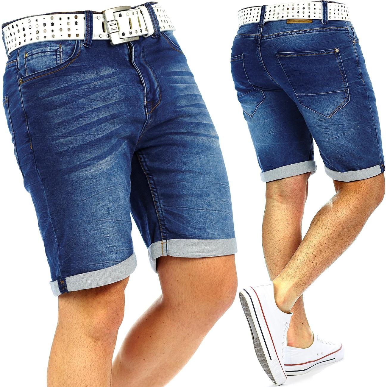 herren jeans shorts capri kurze hose mens pants denim jogging jogg dope swag wow ebay. Black Bedroom Furniture Sets. Home Design Ideas
