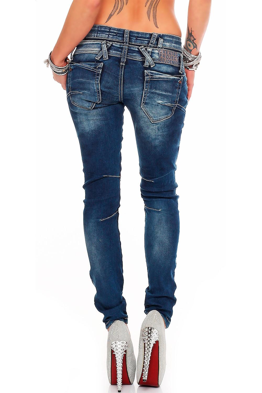 Verschiedene-Cipo-amp-Baxx-Damen-Jeans-Hosen-Slim-Fit-Regular-Fit-Streetwear Indexbild 39