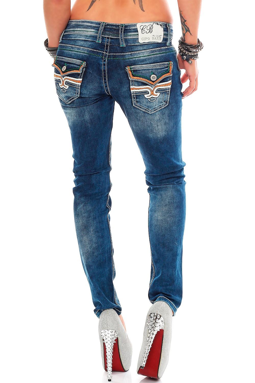 Verschiedene-Cipo-amp-Baxx-Damen-Jeans-Hosen-Slim-Fit-Regular-Fit-Streetwear Indexbild 10
