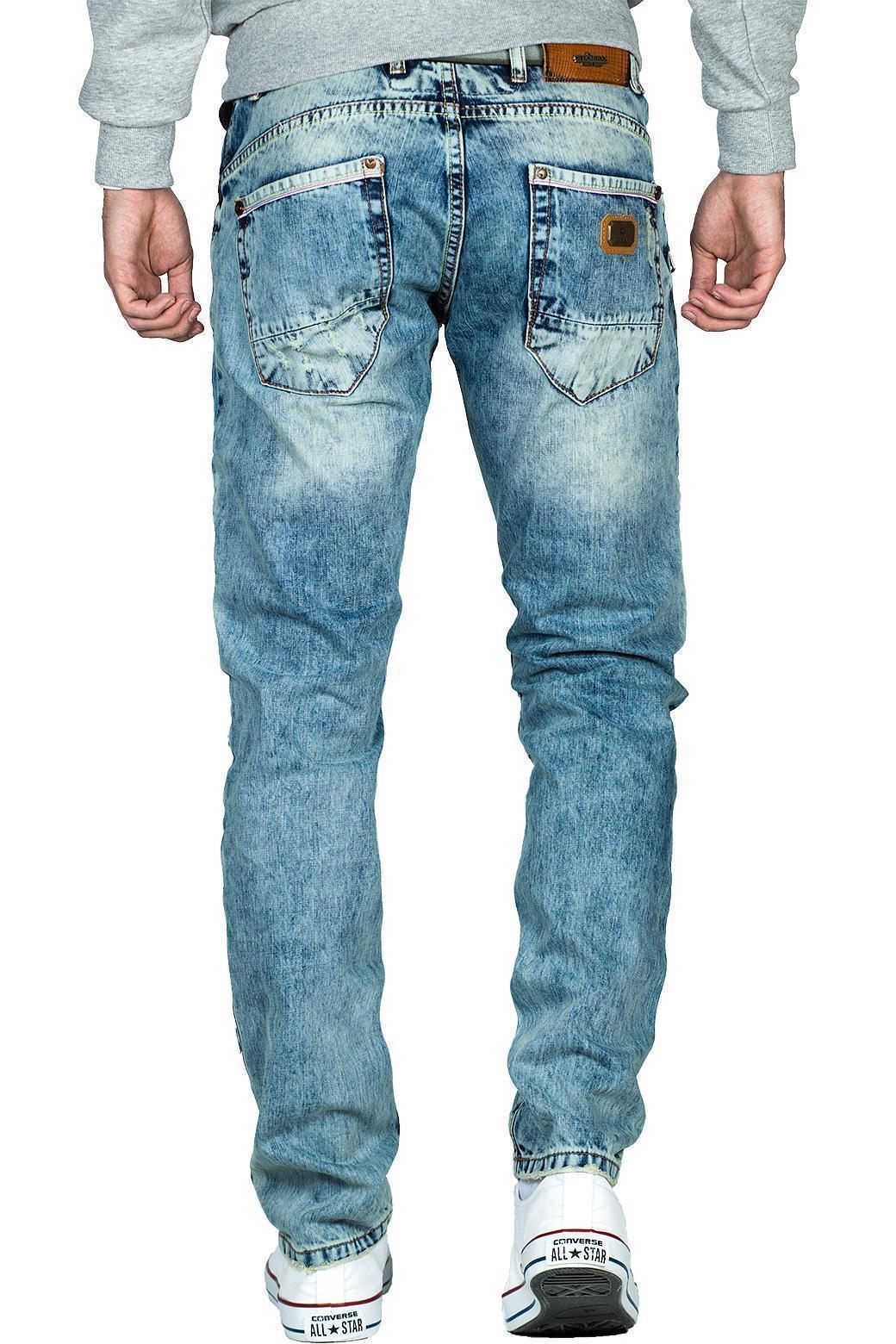 Cipo-amp-Baxx-Uomo-Jeans-Pantaloni-ricamate-Biker-Style-streetwear-nervature-pattern-Dope miniatura 40