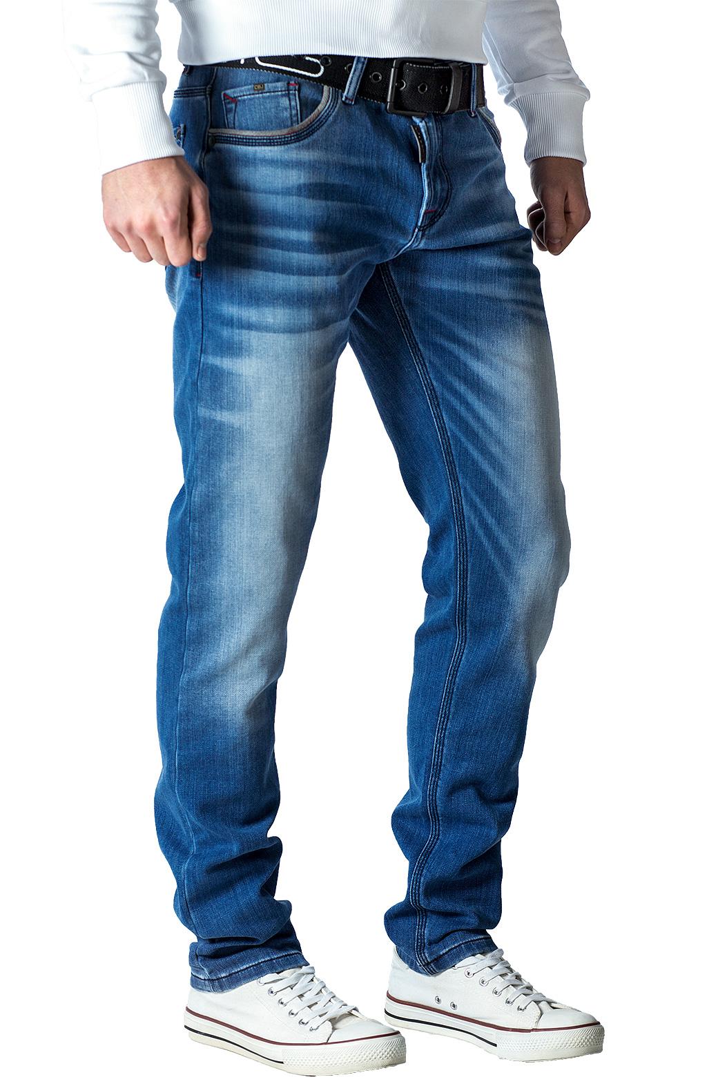 Cipo-amp-Baxx-Uomo-Jeans-Pantaloni-ricamate-Biker-Style-streetwear-nervature-pattern-Dope miniatura 22