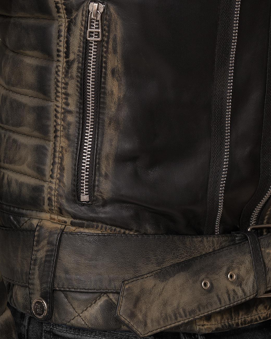 Città ricco Uomo Biker-GIACCA ECOPELLE tempo libero Giacca Zipper streetwear Dope