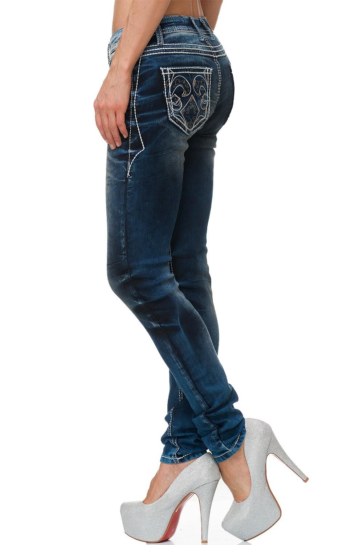 Verschiedene-Cipo-amp-Baxx-Damen-Jeans-Hosen-Slim-Fit-Regular-Fit-Streetwear Indexbild 70