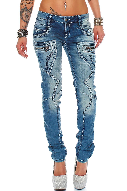 Verschiedene-Cipo-amp-Baxx-Damen-Jeans-Hosen-Slim-Fit-Regular-Fit-Streetwear Indexbild 62