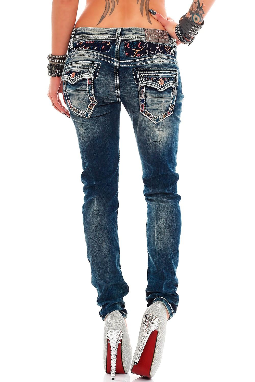 Verschiedene-Cipo-amp-Baxx-Damen-Jeans-Hosen-Slim-Fit-Regular-Fit-Streetwear Indexbild 14