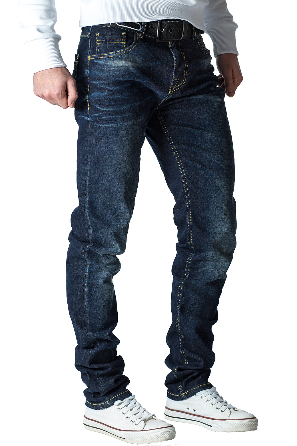 Cipo-amp-Baxx-Uomo-Jeans-Pantaloni-ricamate-Biker-Style-streetwear-nervature-pattern-Dope miniatura 32