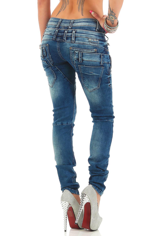 Verschiedene-Cipo-amp-Baxx-Damen-Jeans-Hosen-Slim-Fit-Regular-Fit-Streetwear Indexbild 45