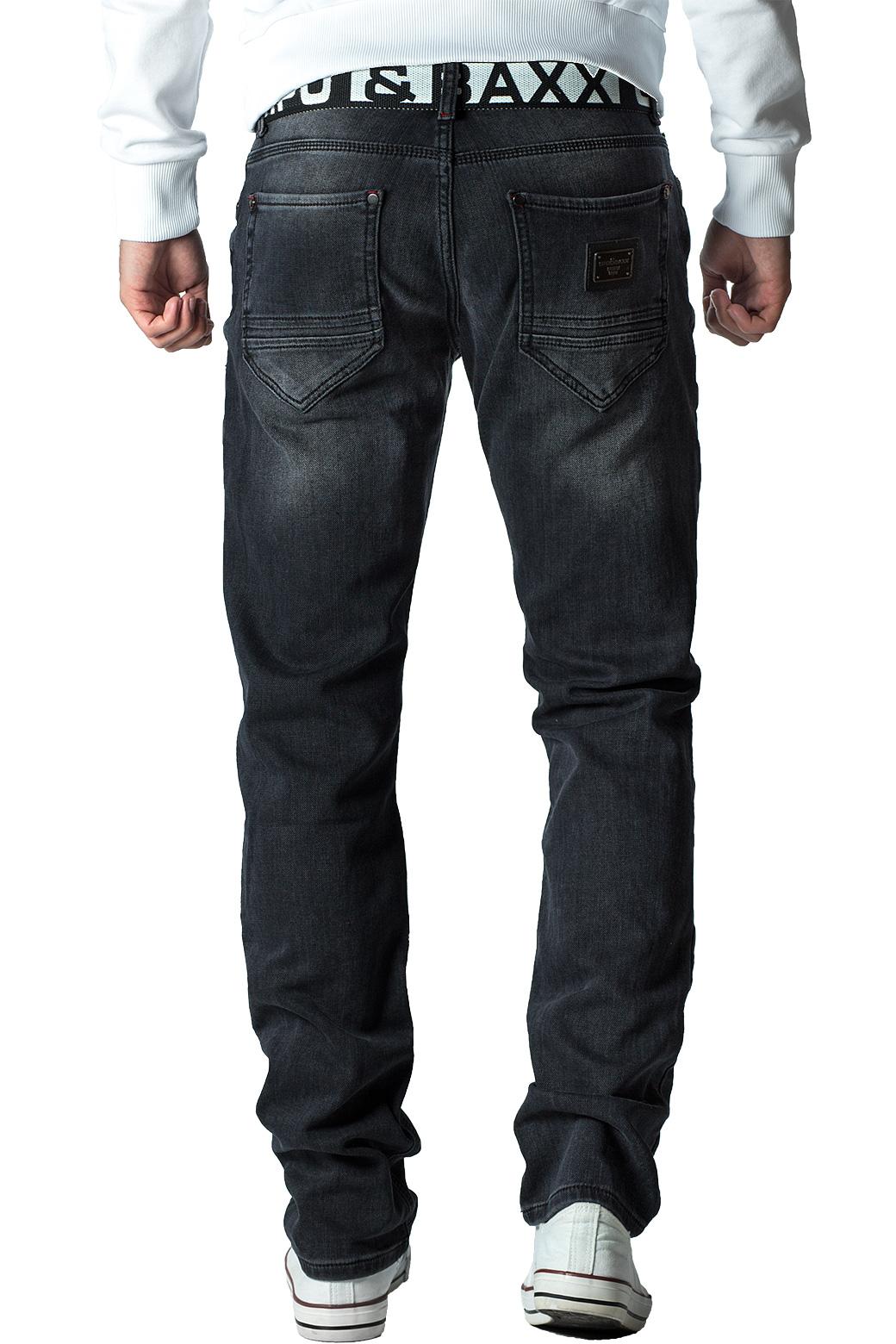 Cipo-amp-Baxx-Uomo-Jeans-Pantaloni-ricamate-Biker-Style-streetwear-nervature-pattern-Dope miniatura 25