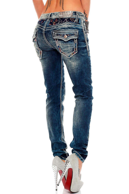 Verschiedene-Cipo-amp-Baxx-Damen-Jeans-Hosen-Slim-Fit-Regular-Fit-Streetwear Indexbild 13
