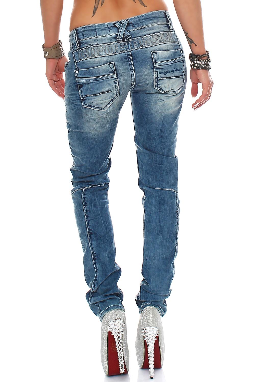 Verschiedene-Cipo-amp-Baxx-Damen-Jeans-Hosen-Slim-Fit-Regular-Fit-Streetwear Indexbild 63