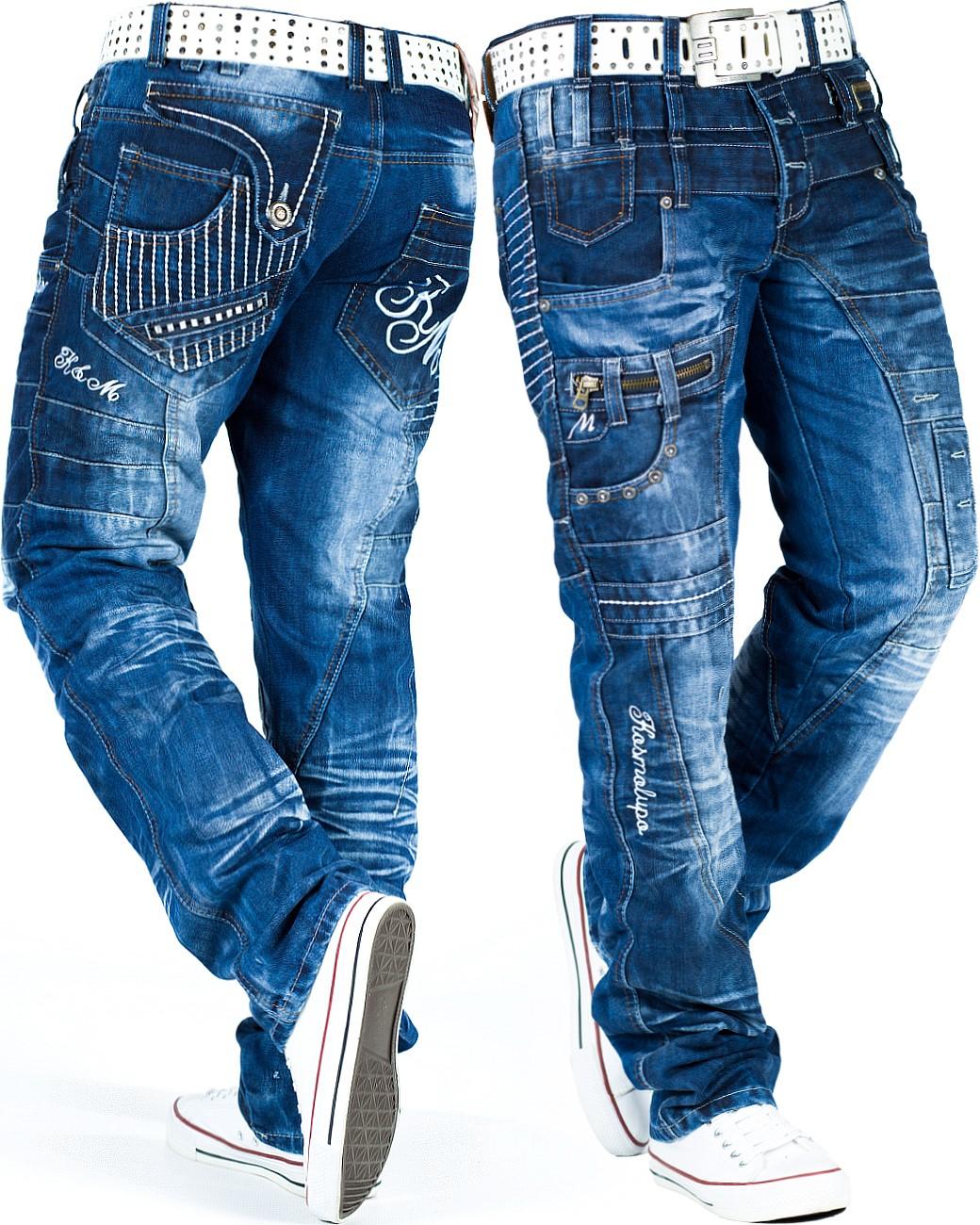 KOSMO Lupo Uomo Jeans Pantaloni streetwear tempo libero Cargo DISCOWEAR DISCOWEAR DISCOWEAR Dope Swag WOW 62d45f