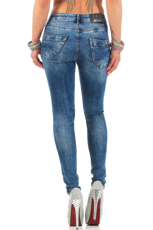 Verschiedene-Cipo-amp-Baxx-Damen-Jeans-Hosen-Slim-Fit-Regular-Fit-Streetwear Indexbild 48