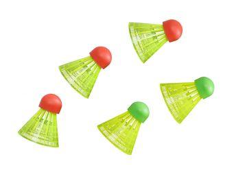 Weitere Ballsportarten 5 x Badminton Bälle für Crossminton 75009 Hudora Speed Strand Park Garten Schule Bälle