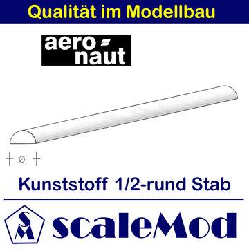3,30 EUR//m Kunststoff 7726//33 ASA Halbrundstab VE 1 Stk 1000mm Aeronaut