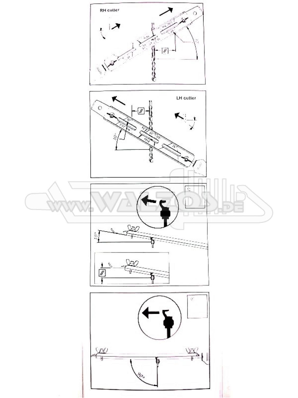 """Feilenhalter mit Lehre und Rundfeile Ø 4,5 mm für 3//8/"""" 1,1 mm Hobby Sägeketten"""