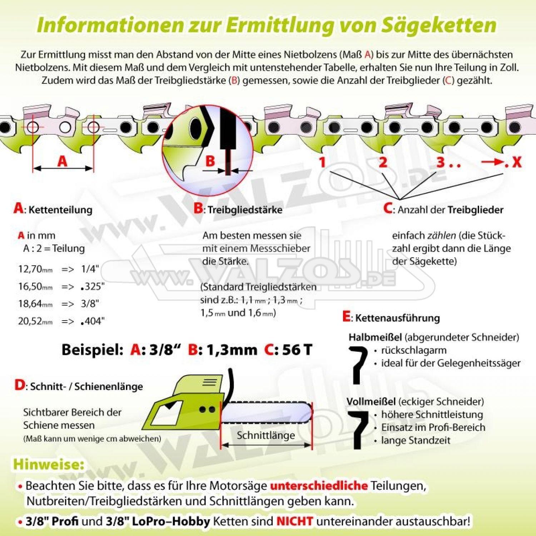 """Schwert passend für Partner 351 35 cm 3//8/"""" 52 TG 1,3mm Führungsschiene guide bar"""