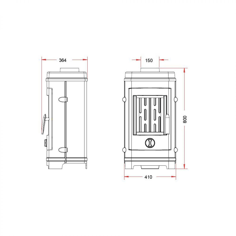 invicta kaminofen remilly gussofen zimmerofen klein 7kw. Black Bedroom Furniture Sets. Home Design Ideas