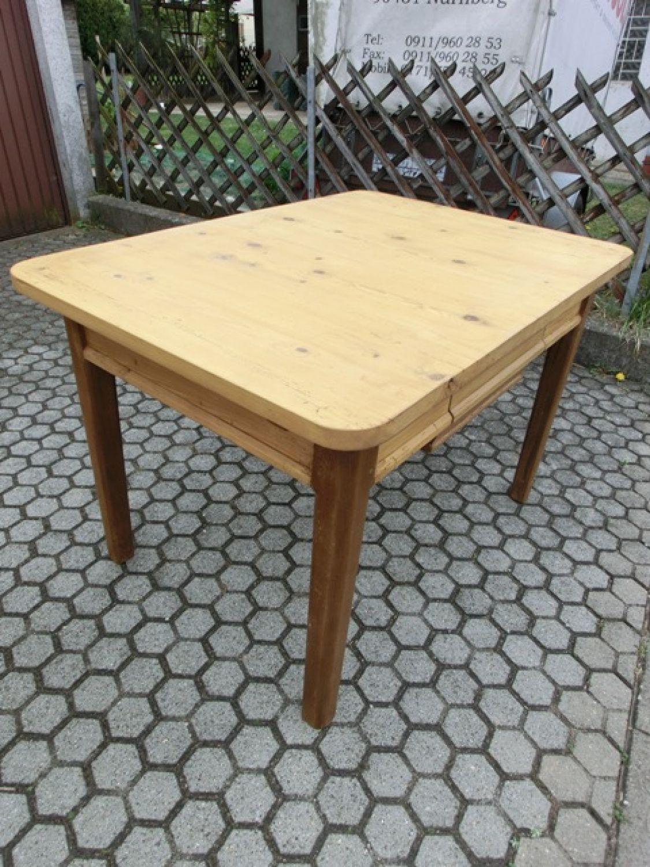 3913 Tisch, Holztisch, Weichholz,Biedermeier, Küchentisch