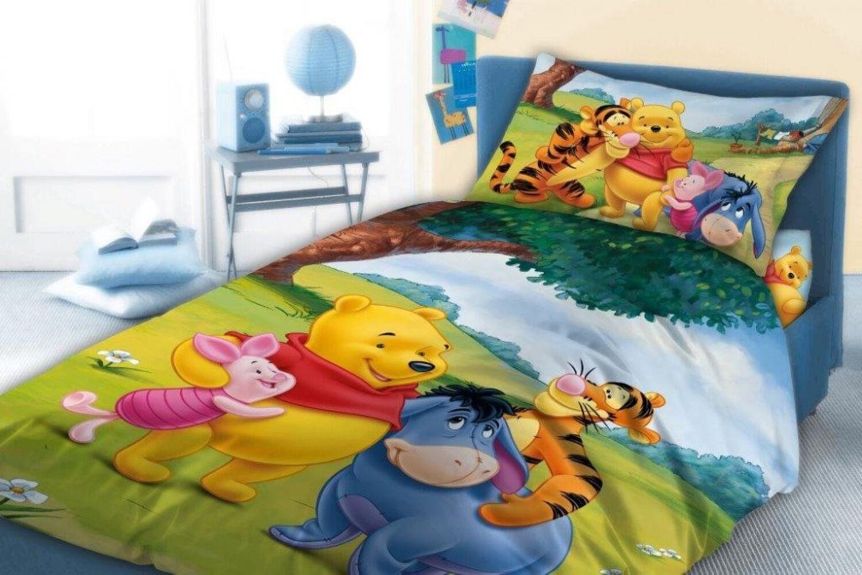 Details zu Disney Winnie Pooh Bettwäsche Set 100x135 + 40x60cm Winnie Puuh