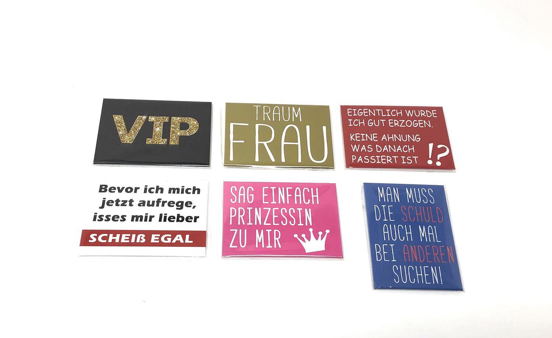 Kühlschrankmagnet lustig Spruch witzig cool frech Küche Magnet Deko 24 Designs