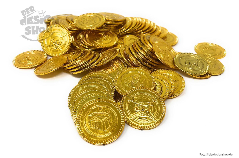 piratenmünzen gold schatz kinder pirat geburtstag