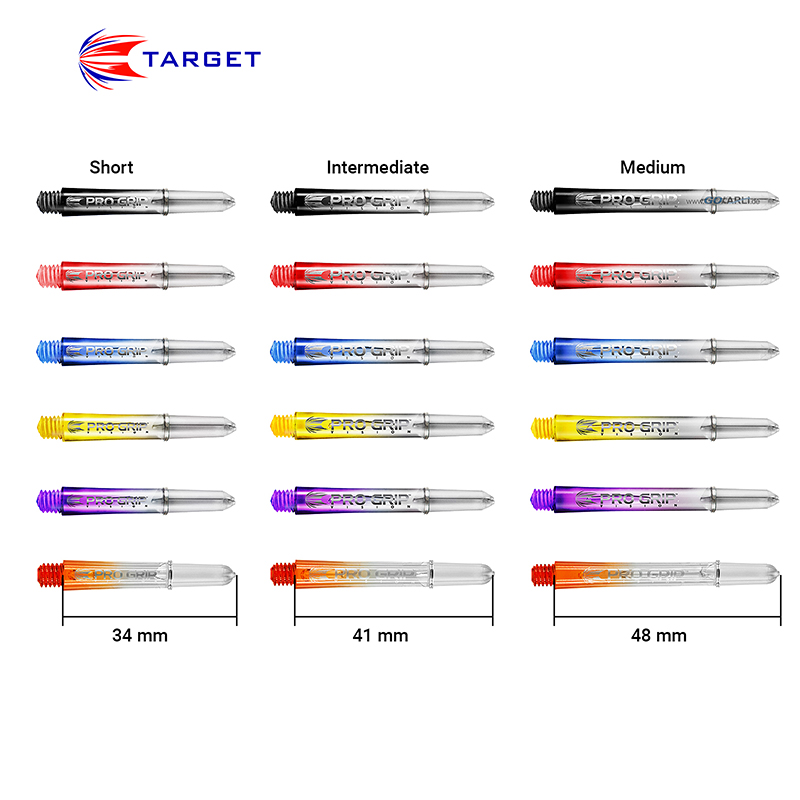 Target Pro Grip Shaft mit Aluminium Ring 3 St/ück Dartsch/äfte