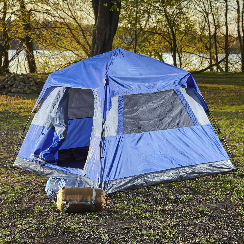 Details zu 3 Personen Zelt Schnellaufbau Hauszelt Camping Outdoor Familienzelt Sekundenzelt