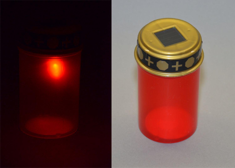 Solar LED Grableuchte mit Dämmerungssensor für 8-10 Std Leuchtdauer