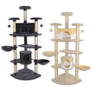 eck kratzbaum f r katzen katzenkratzbaum 200 cm h he kletterbaum mit sisal ebay. Black Bedroom Furniture Sets. Home Design Ideas