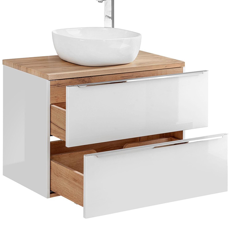 Badmöbel Waschtisch Unterschrank Set in weiß Hochglanz 121cm Keramik Waschbecken   eBay