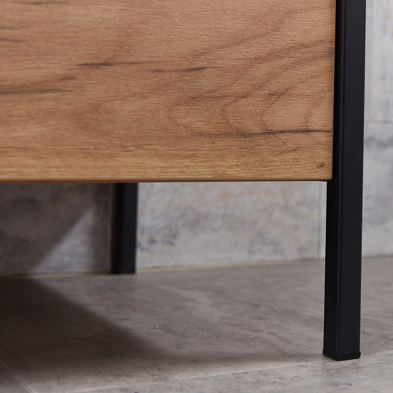 Badmobel Komplett Badezimmer Mobel Set Industrial Waschtisch Led