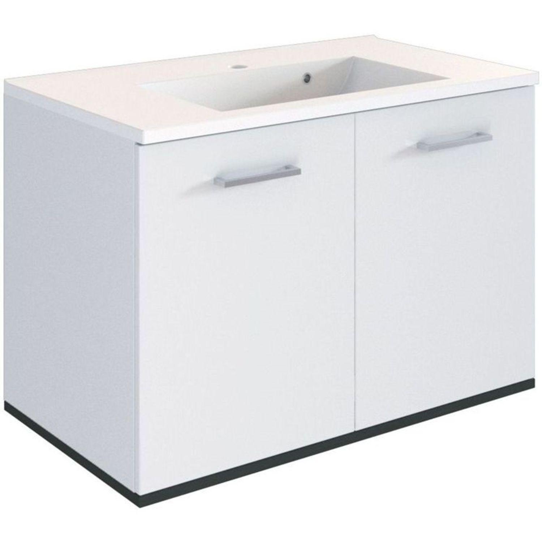 Waschtisch Unterschrank 2-trg. Weiß