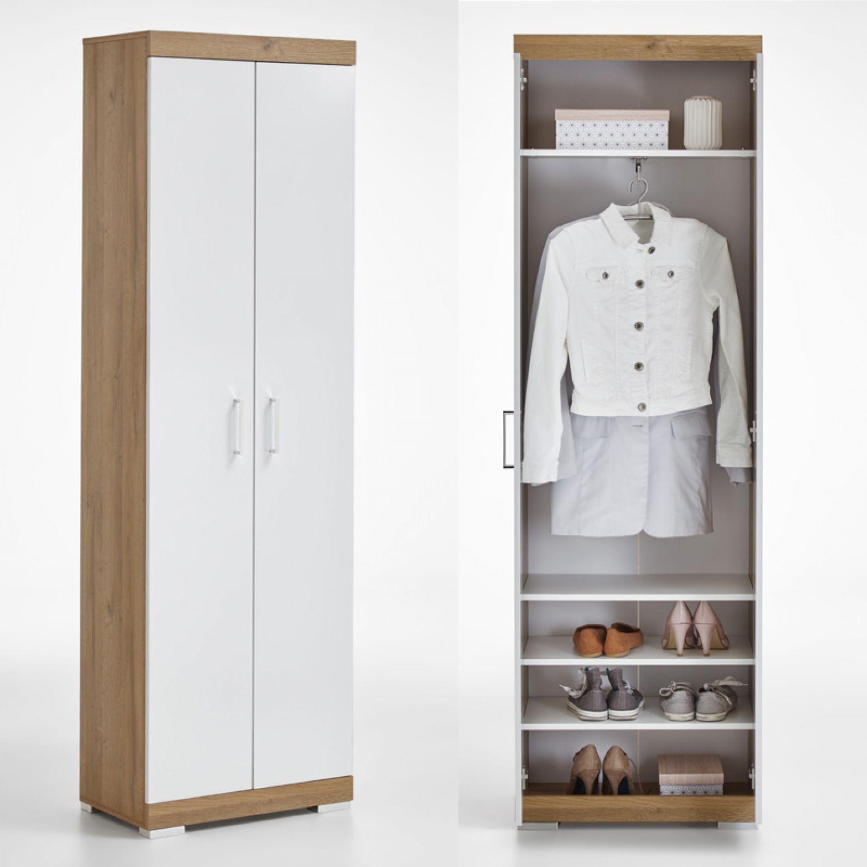 Beeindruckend Garderobenschrank Groß Beste Wahl York-10 Alteiche Nb./weiß Edelglanz, B X H