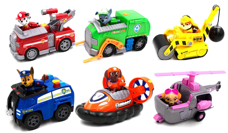 Neu Set of 7 Paw Patrol Pup Deluxe Spiel Figuren Spielfiguren Spielzeug Hot Sale