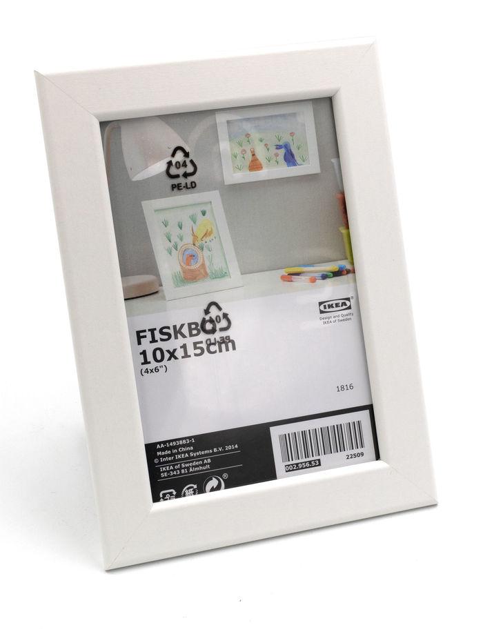 10 st ck set ikea fiskbo 10x15cm bilderrahmen wei fotorahmen foto rahmen holz ebay. Black Bedroom Furniture Sets. Home Design Ideas