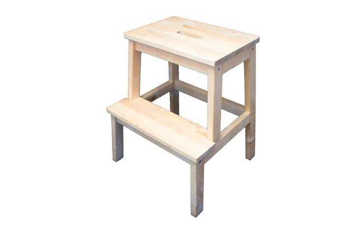 Ikea bekväm tritthocker birke 50 cm massivholz stufenhocker