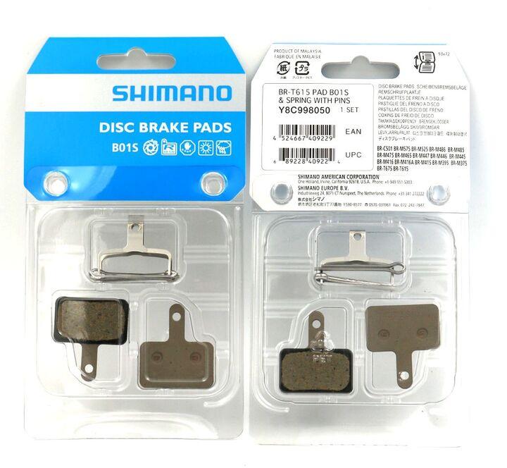 2 Paar Shimano B01S Resin Bremsbeläge BR-M 445 446 575 486 525 Beläge Pads Great