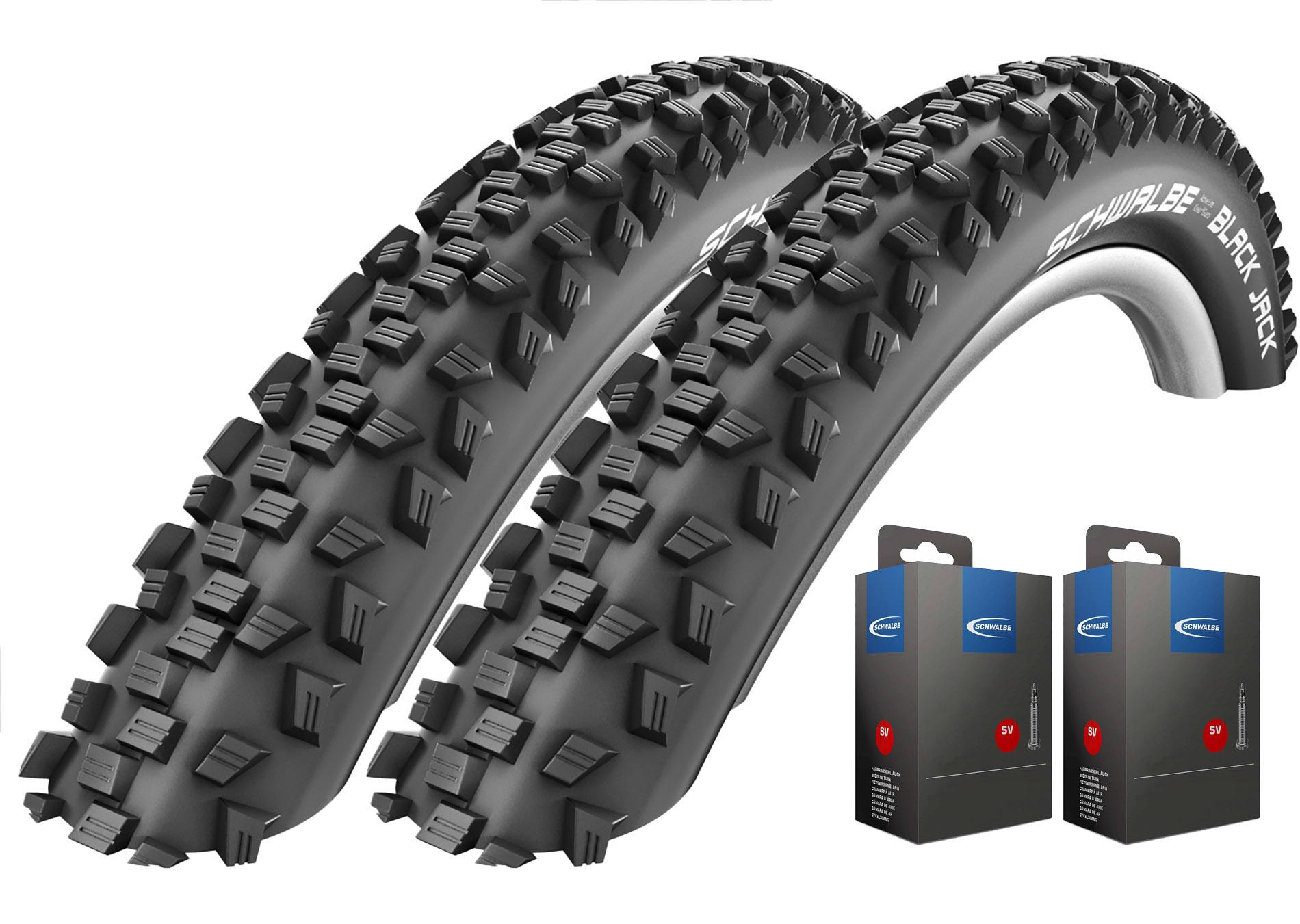 2x Schwalbe Black Jack Fahrrad Reifen 12 16 18 20 24 26 Zoll wählbar KGuard