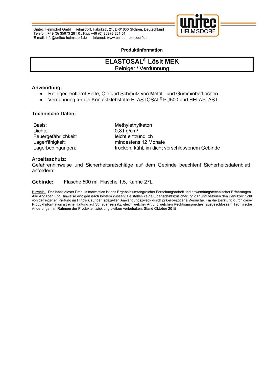 Taucherwerkstatt SF-1 TopDeal Trockiwerkstatt ELASTOSAL Lösit MEK