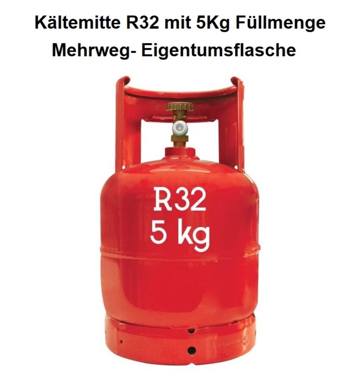Kältemittel R32 Mehrwegflasche//Eigentumsflasche mit 5Kg Füllmenge