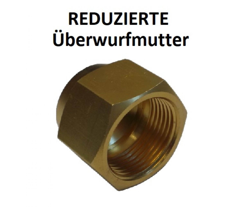 """und Klimatechnik Überwurfmutter Bördelmutter /""""REDUZIERT/"""" Zoll für Kälte"""