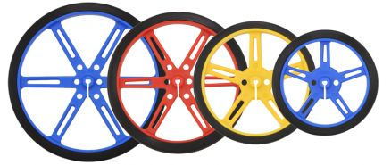 Red PO1431 Pololu Wheel 80×10mm Pair